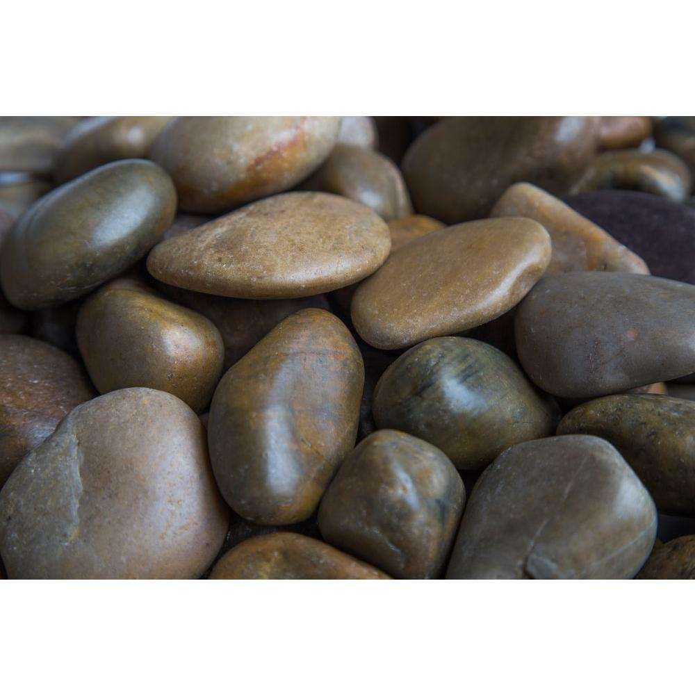 Rain Forest 1 in. to 2 in., 2200 lb. Medium Mixed Grade A Polished Pebbles Super Sack