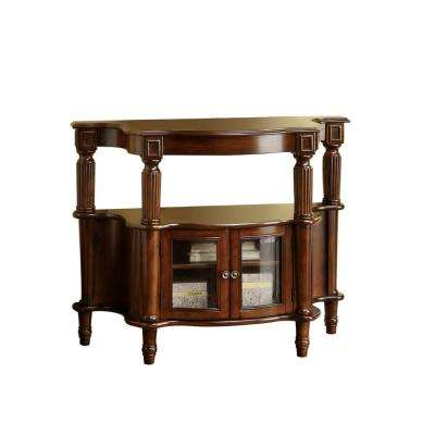 Aria Antique Walnut Console Table