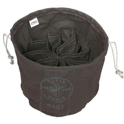 11 in. Ten-Compartment Canvas Drawstring Bag