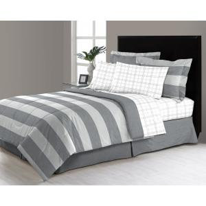 Click here to buy  Briggs Grey 8-Piece King Bed in a Bag Comforter Set.