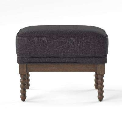 Eves Gray Cushioned Ottoman