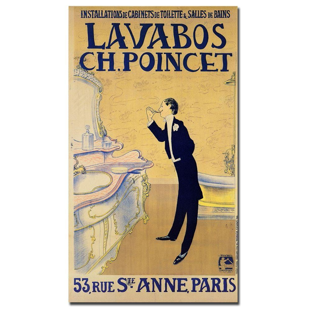 "24 in. x 32 in. ""Lavabos CH. Ponchet"" Canvas Art"