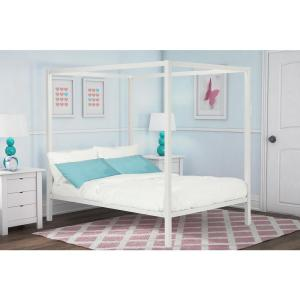 new concept 0fcb2 fde65 DHP Rory Metal Canopy White Full Size Bed Frame DE42960 ...