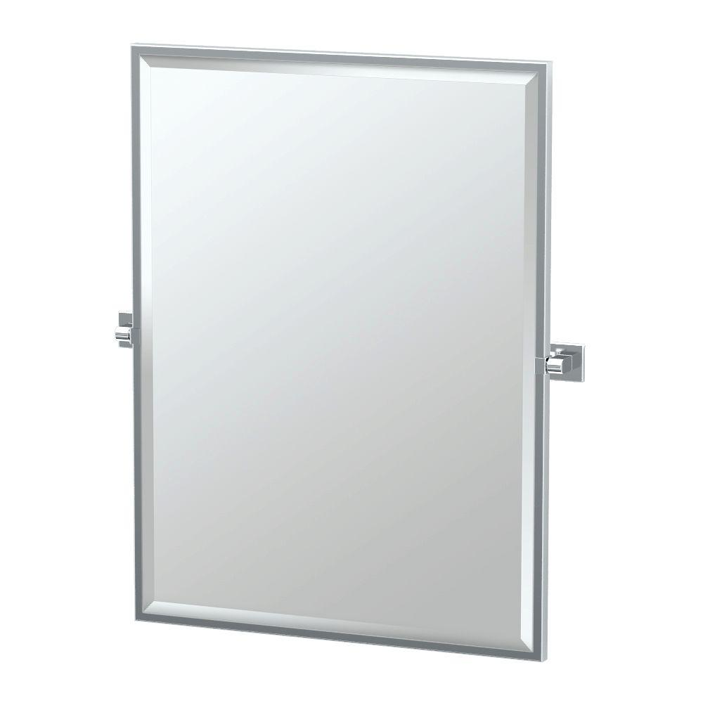 Elevate 28 in. x 33 in. Framed Single Large Rectangle Mirror