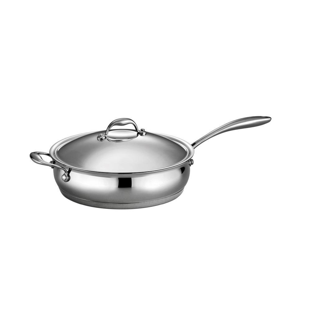 Gourmet Domus 5 Qt. Covered Deep Saute Pan