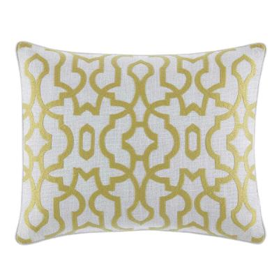 Palmiers Green Floral 16 in. x 20 in. Throw Pillow