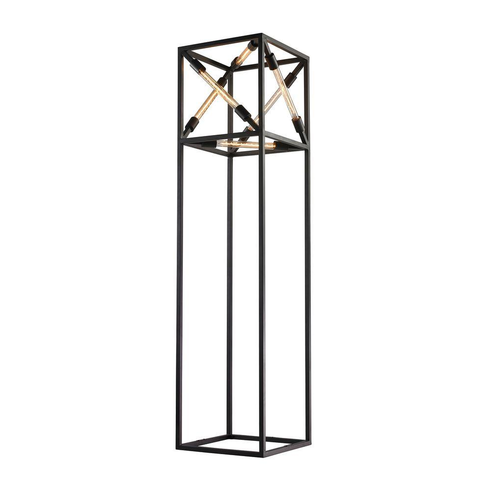 Titan Lighting Tube 66 in. Black Box Floor Lamp-TN-999293 - The Home ...