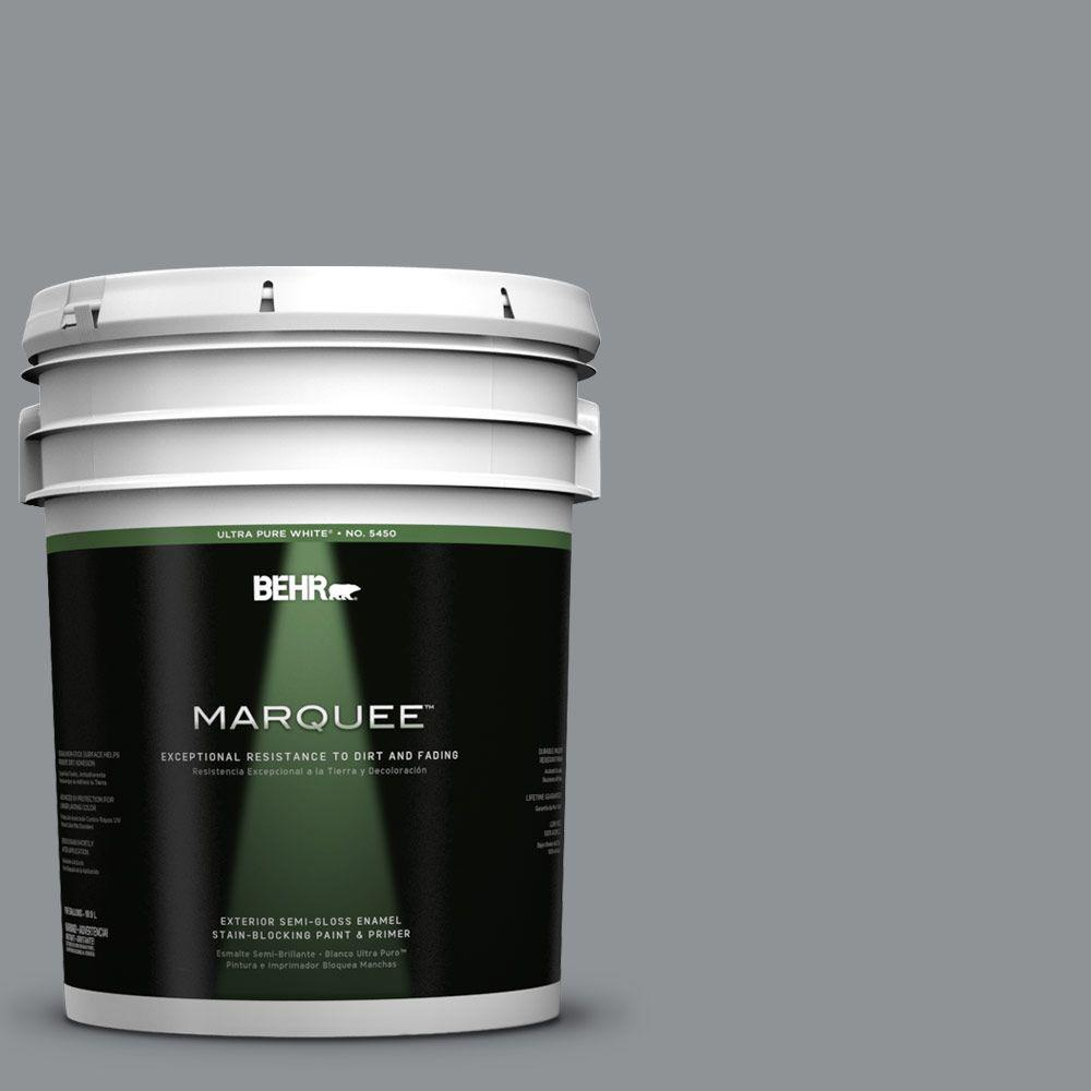 BEHR MARQUEE 5-gal. #770F-4 Gray Area Semi-Gloss Enamel Exterior Paint