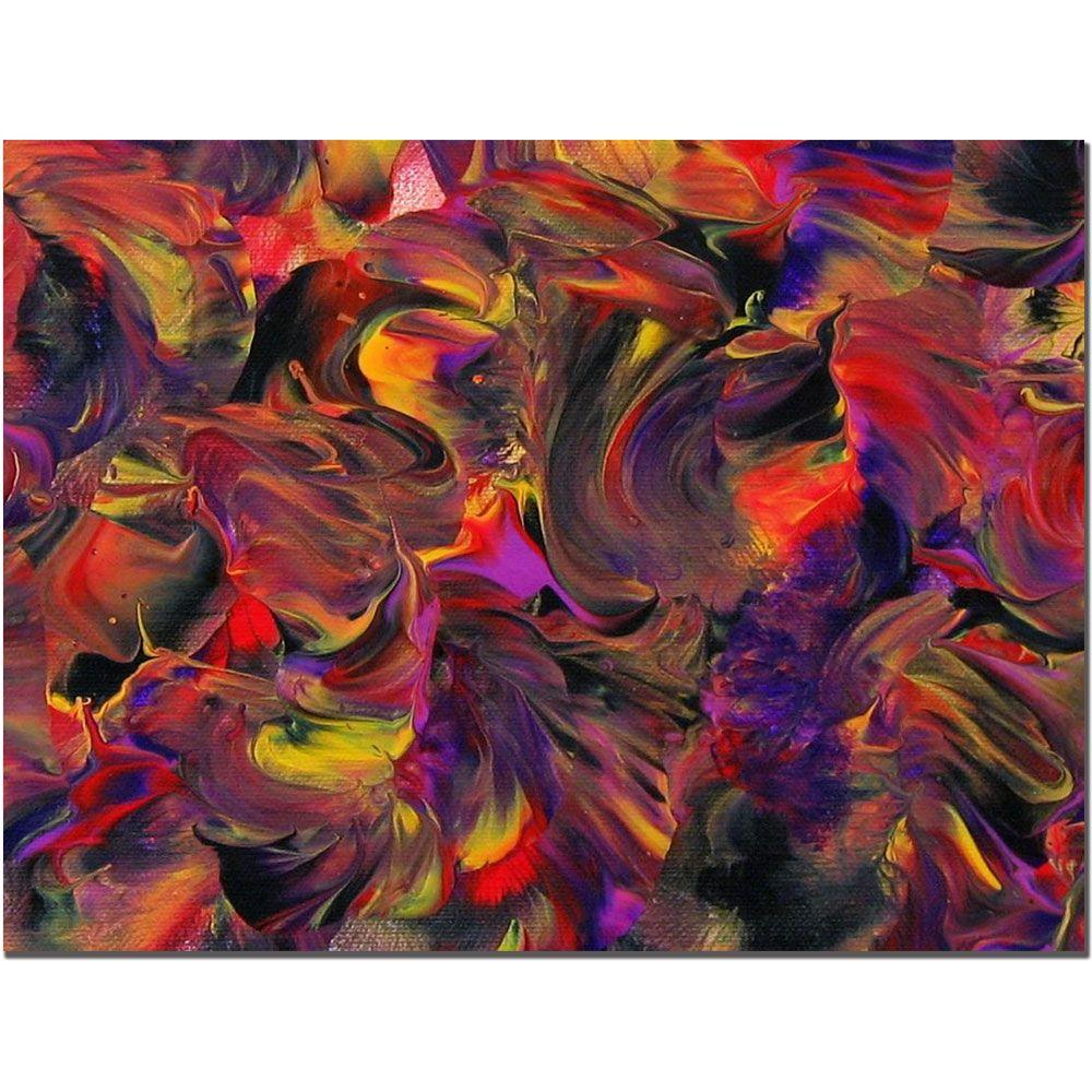 Trademark Fine Art 14 in. x 19 in. African Violet Canvas Art-DISCONTINUED
