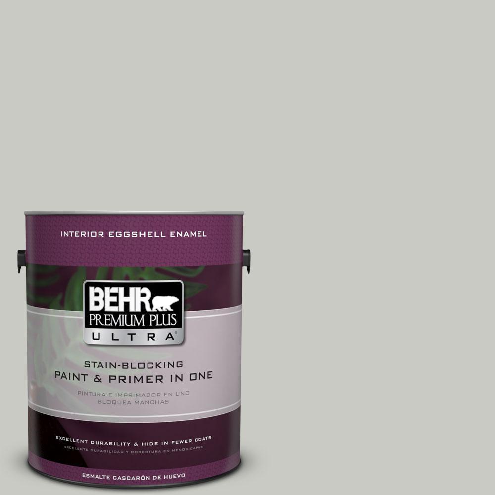 BEHR Premium Plus Ultra 1-gal. #N380-2 Heath Gray Eggshell Enamel Interior Paint