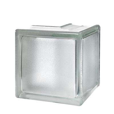 White 5.75 in. x 5.75 in. x 3.15 in. Classic Non-Tinted Corner Glass Block