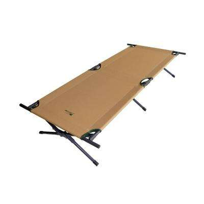 15 in. H x 75 in. L Brown Camping Cot