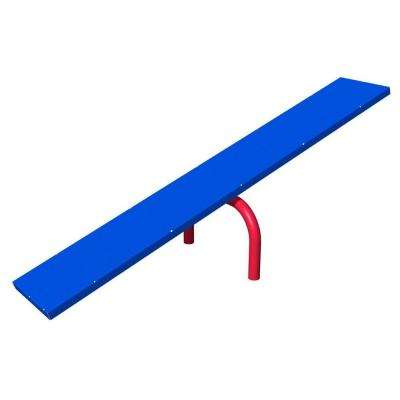 Blue and Red Playful Dog Park Commercial Teeter Totter