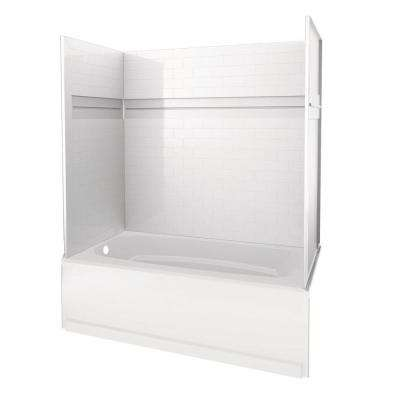 UPstile 32 in. x 60 in. x 60 in. Bath and Shower Kit with Classic 400 Left-Hand Drain in White