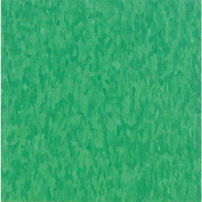 Take Home Sample - Imperial Texture VCT Grabbin Green Commercial Vinyl Tile - 6 in. x 6 in.