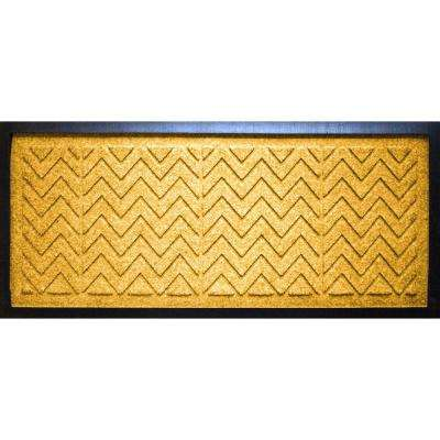 Yellow 15 in. x 36 in. x 0.5 in. Chevron Boot Tray