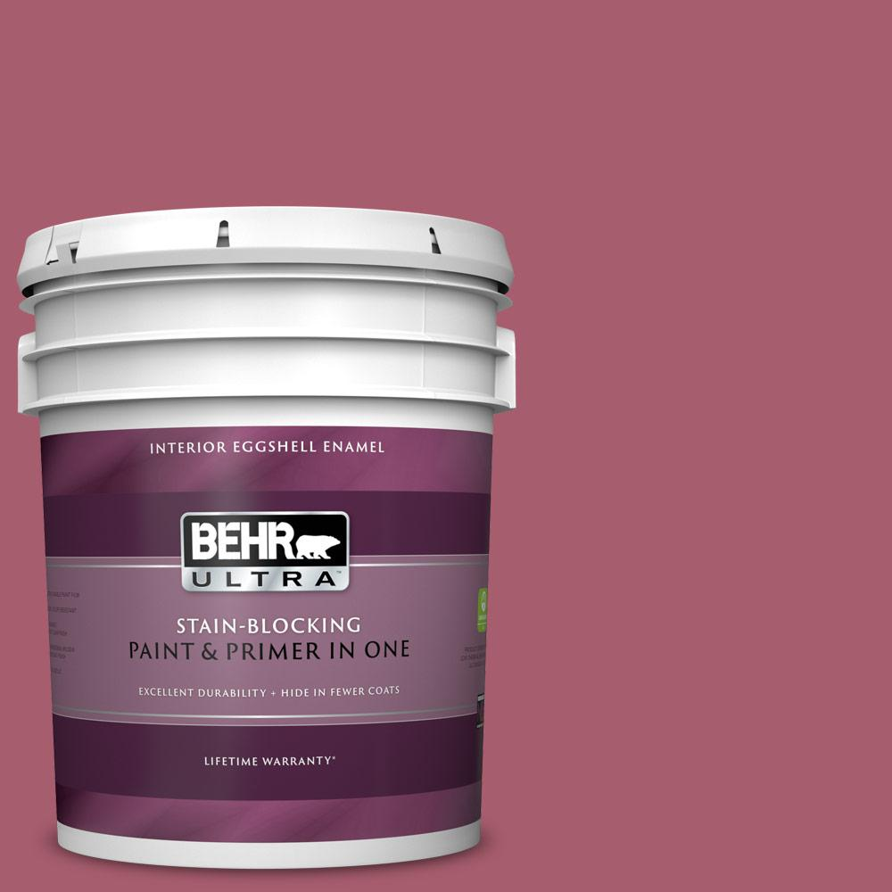 Behr Ultra 5 Gal Mq1 7 Shine Baby Shine Eggshell Enamel Interior Paint And Primer In One 275305 The Home Depot