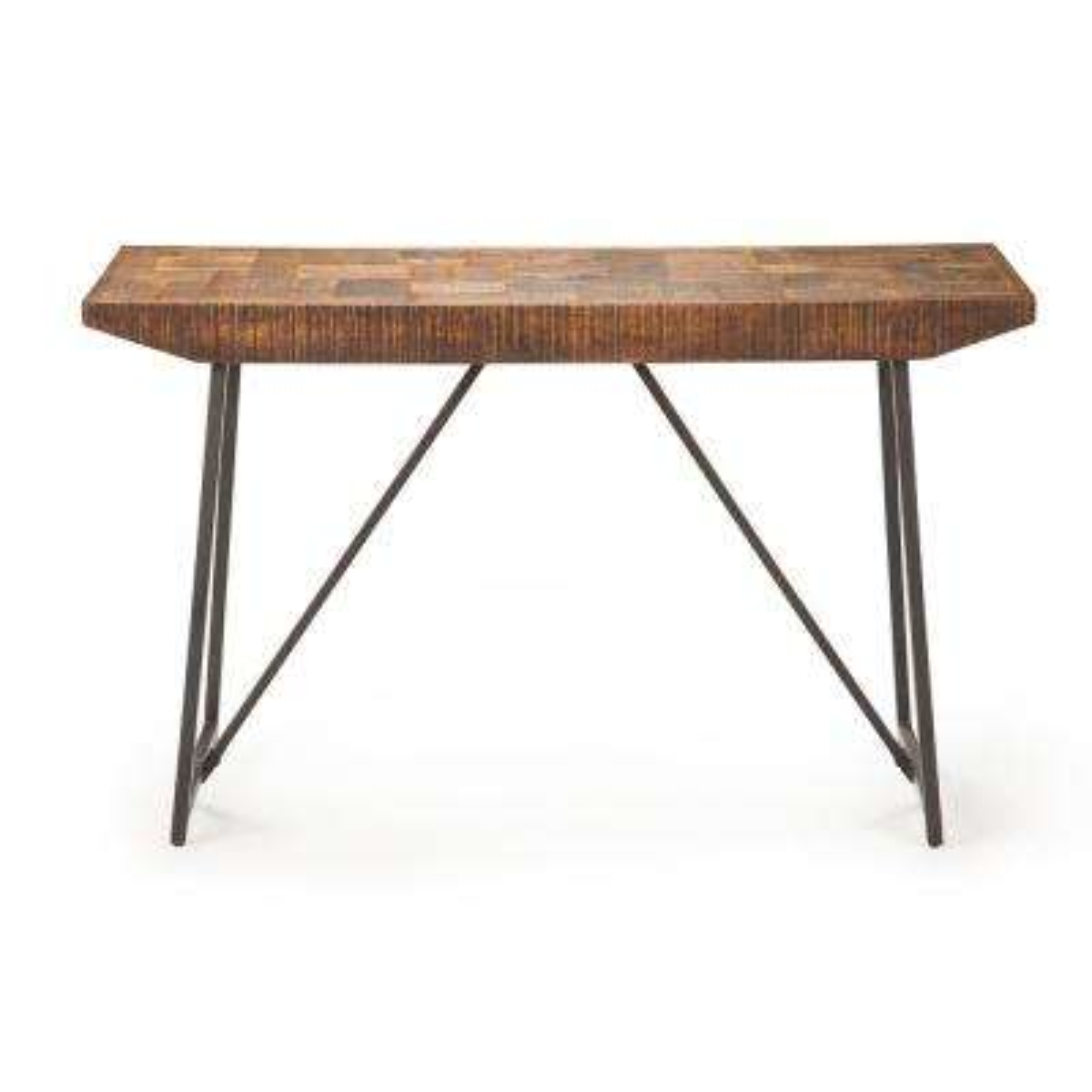 Walden Parquet Brown Sofa Table