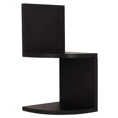 Priva 7.75 W x 7.75 in. D Black Corner Shelves (Set of 8)