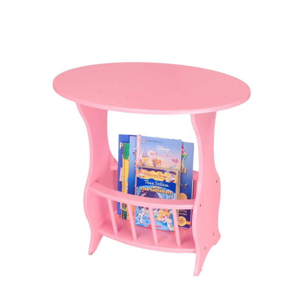 Charmant MegaHome Pink Magazine End Table