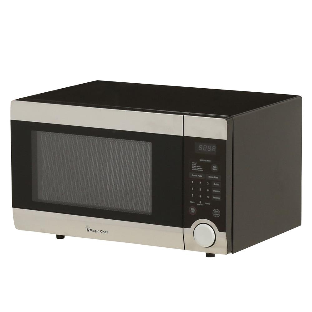Magic Chef 1 Cu Ft Countertop Microwave In Stainless Steel