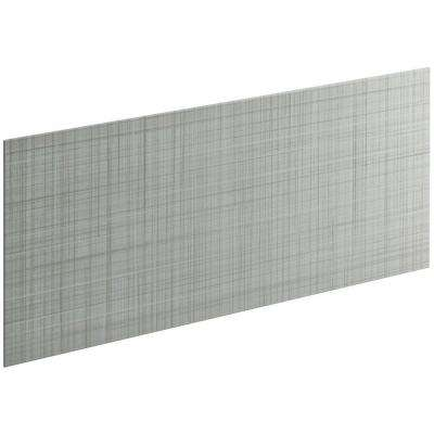 Choreograph 0.3125 in. x 60 in. x 28 in. 1-Piece Shower Wall Panel in Ice Grey with Linen Texture