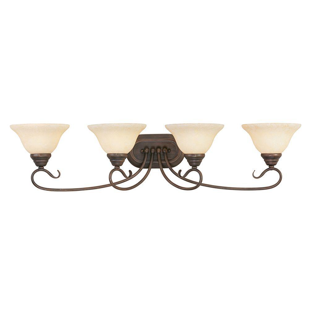 Oasis 4-Light Imperial Bronze Bath Light