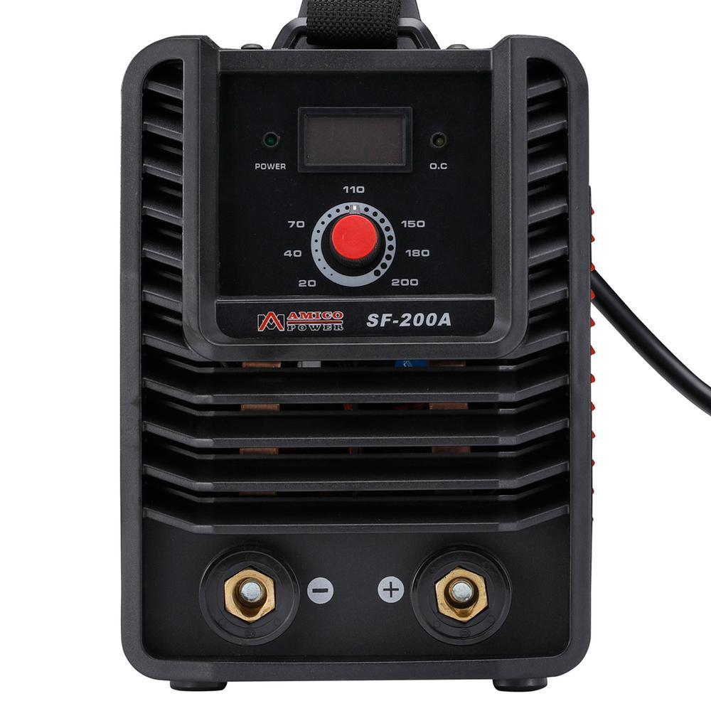 AMICO POWER 200 Amp. 115-Volt and 230-Volt Dual Voltage Stick Arc MMA DC Welder IGBT Digital Inverter Welding Machine