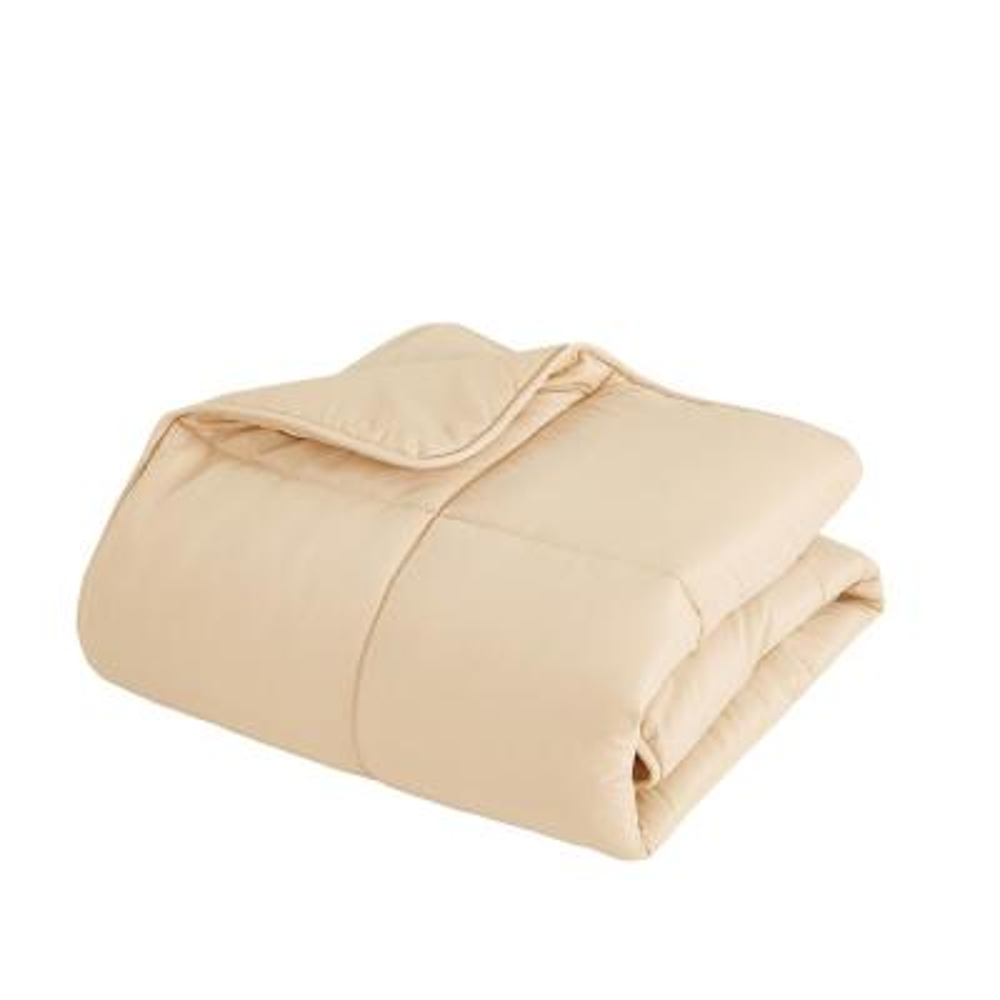 All Season Khaki Microfiber Queen Size Comforter