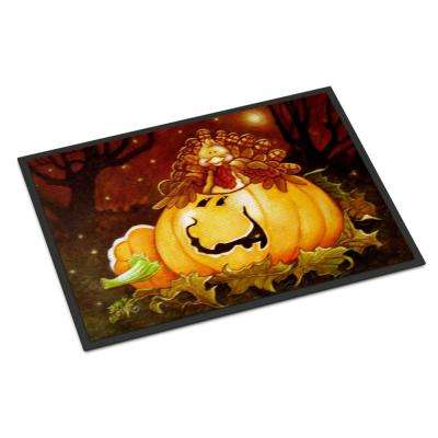 18 in. x 27 in. Indoor/Outdoor Somebody to Love Pumpkin Halloween Door Mat