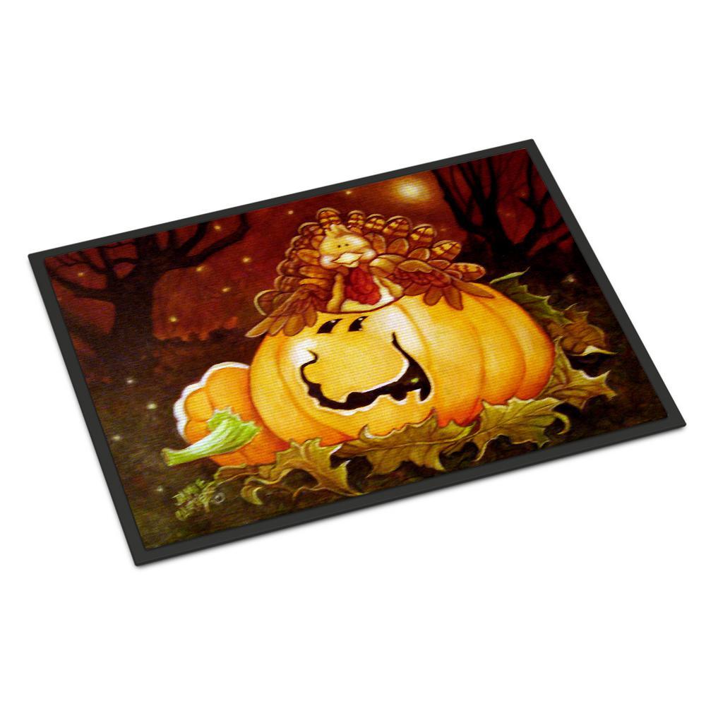 18 in. x 27 in. Indoor/Outdoor Somebody to Love Pumpkin Halloween Door Mat