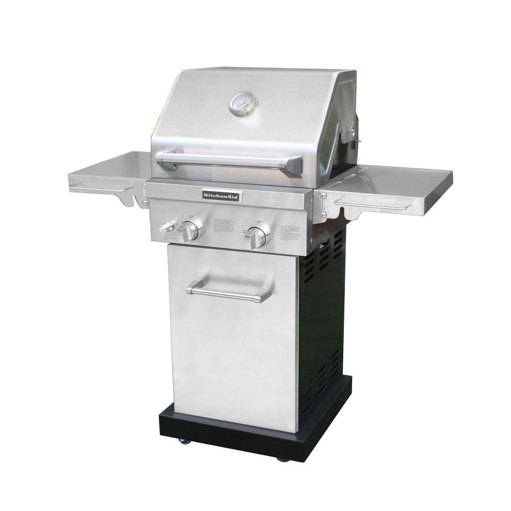 KitchenAid 2-Burner Propane Gas Grill in Stainless Steel