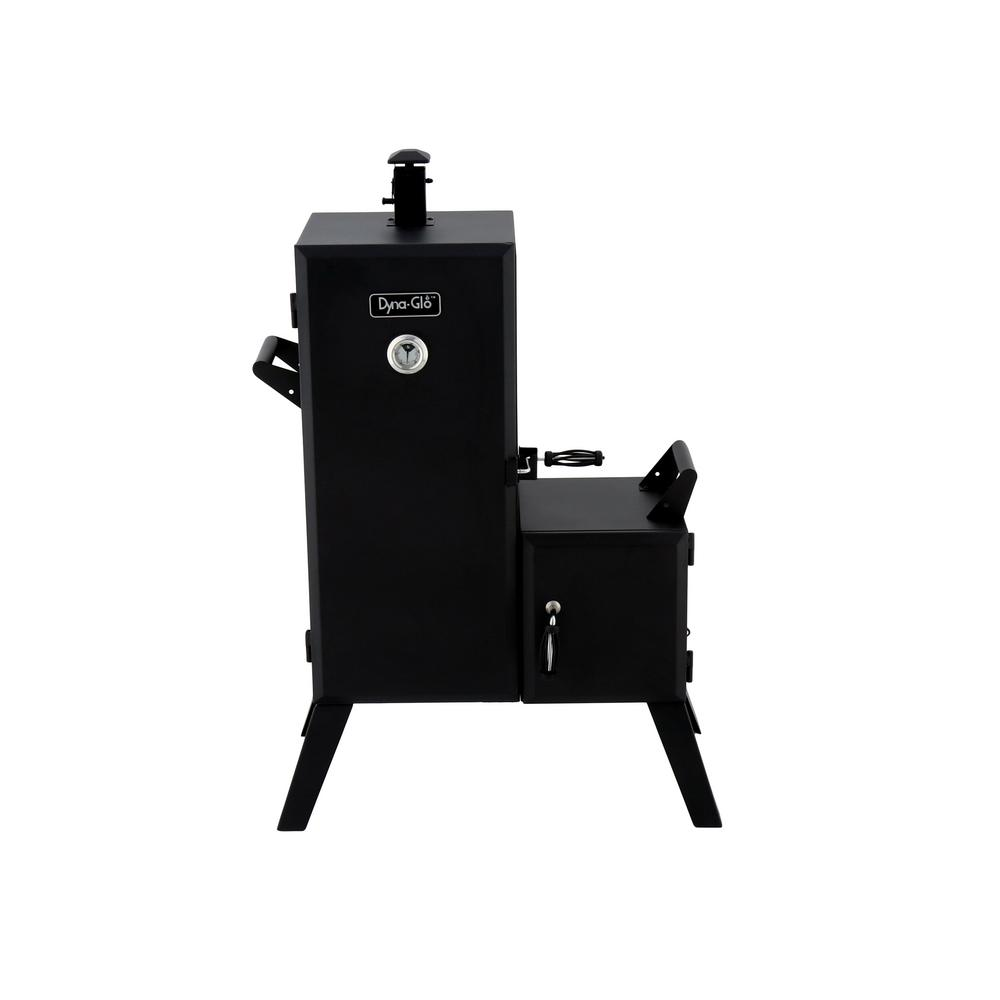 Dyna Glo 36 In Vertical Off Set Charcoal Smoker Dgo1176bdc D The Home Depot
