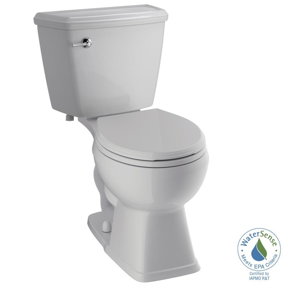 Luxford 2-Piece 1.28 GPF Single Flush Round Front Toilet in White