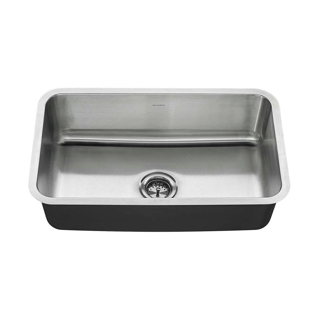 American Standard Undermount Stainless Steel 30 in. Single Bowl ...