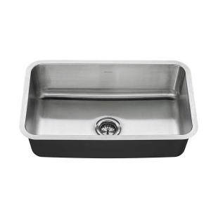American Standard Undermount Stainless Steel 30 in. Single Basin ...