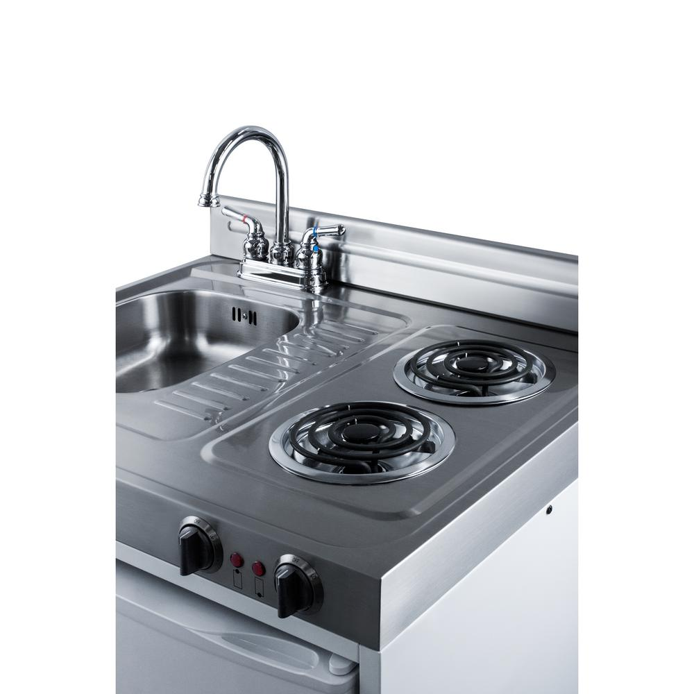 Summit Appliance 30 in. Compact Kitchen in White