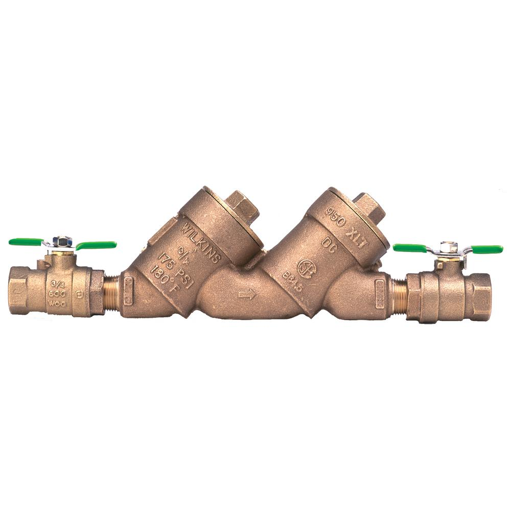 Zurn-Wilkins 1 in. Lead-Free Double Check Valve Assembly with Top Access Covers