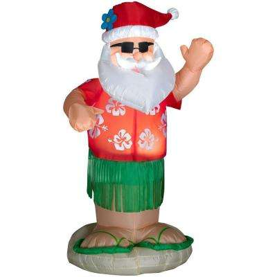 6 ft. Inflatable Animated Airblown Santa Dances the Hula