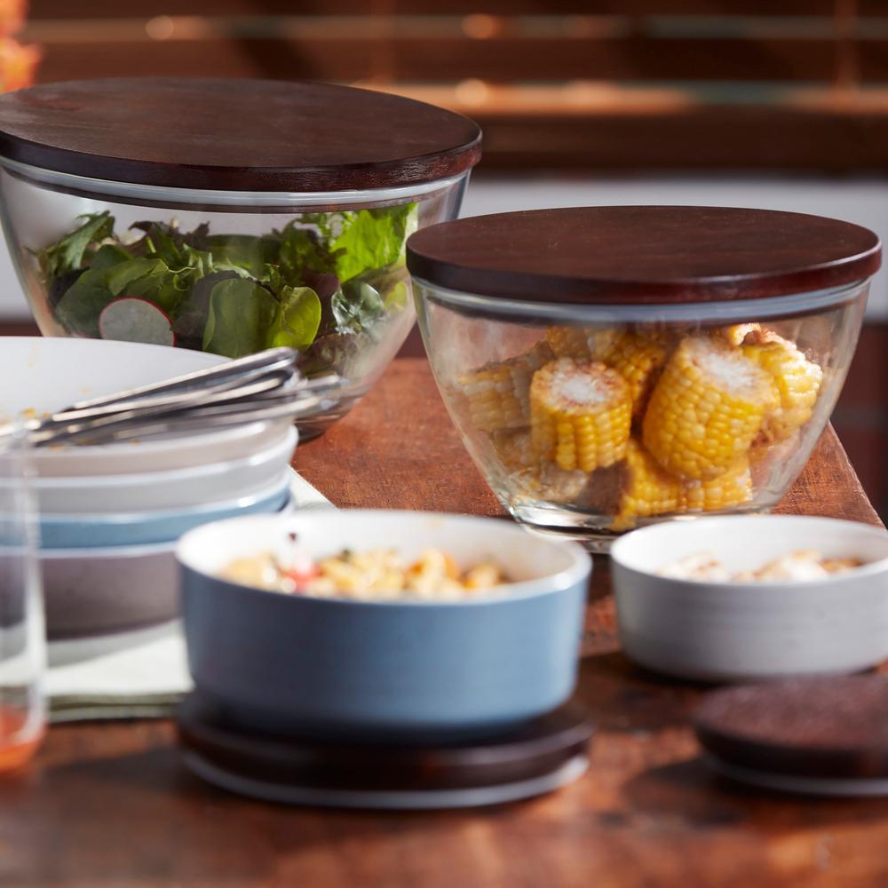 Urban 1-Piece Medium Glass Bowl Set with Lid