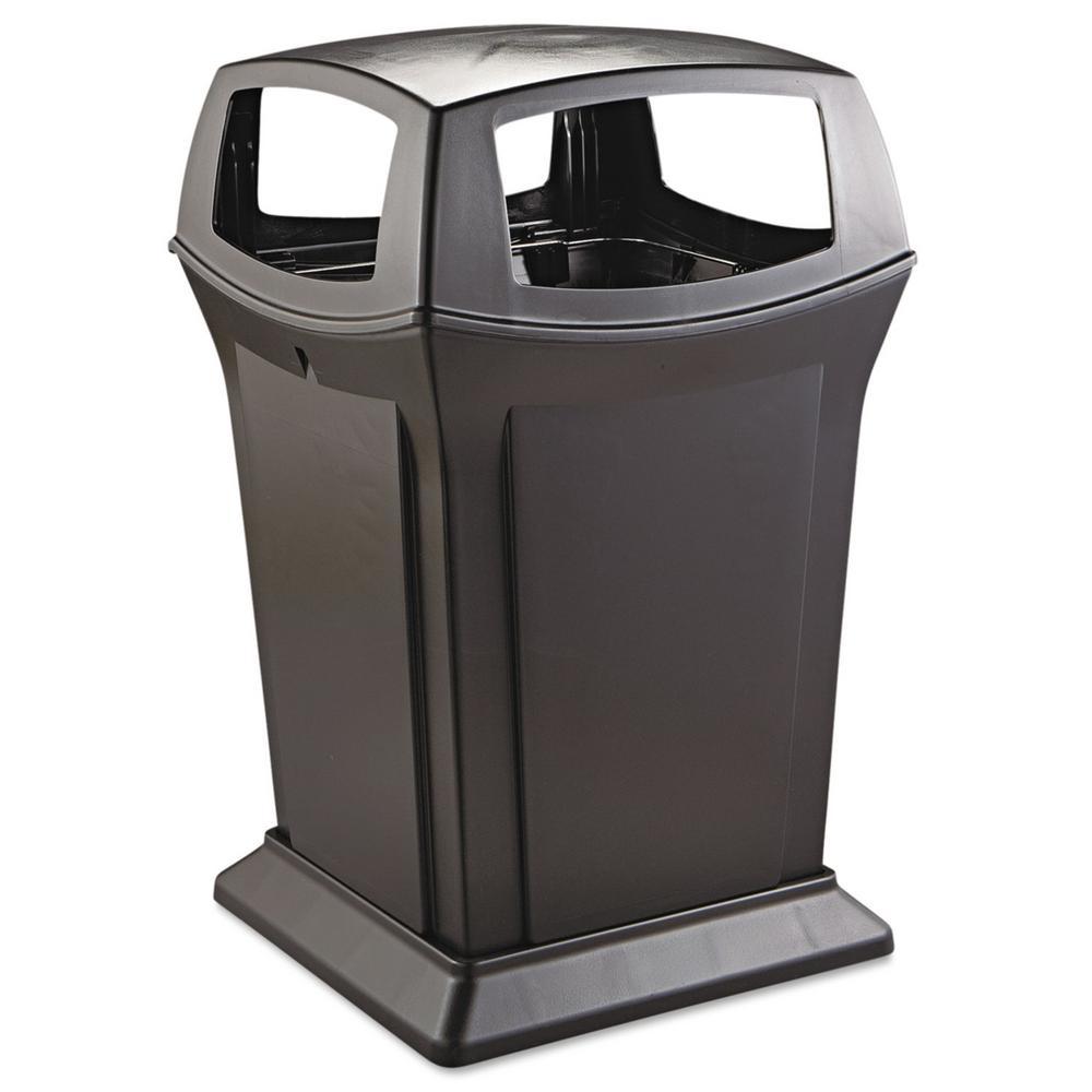 Ranger 45 Gal. Black Open Side Trash Can
