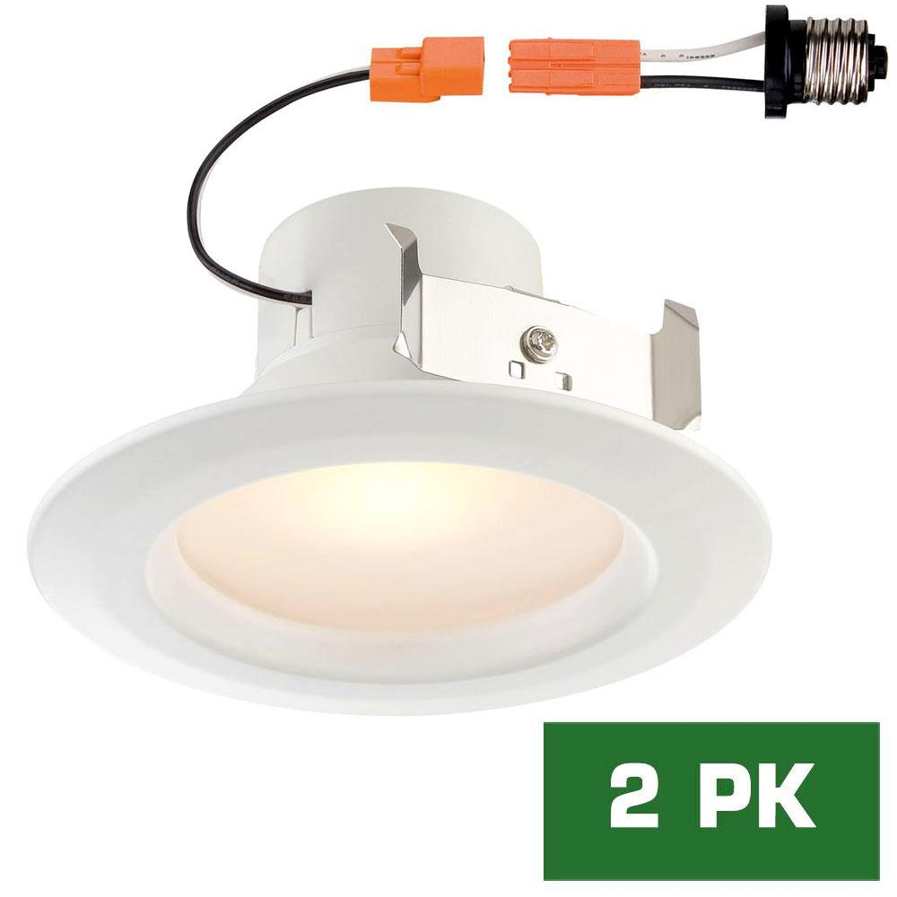 Matchbox 20 Bright Lights Bathroom Window: EnviroLite Standard Retrofit 4 In. White Recessed Trim