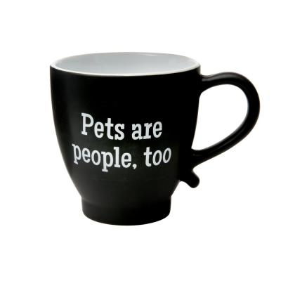 Pets Are People Too 20 oz. Black-White Ceramic Coffee Mug