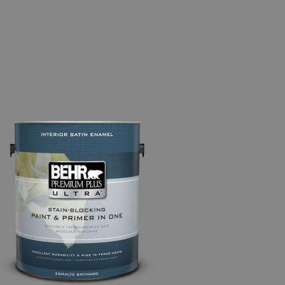 1 gal. #PPU26-04 Falcon Gray Satin Enamel Interior Paint