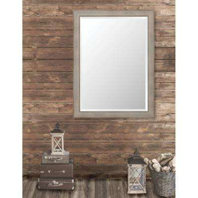 Pinnacle 35.625 in. x 47.625 in. French Antique Framed Bevel Mirror