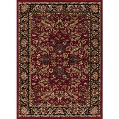 Ankara Sultanabad Red Rectangle Indoor 9 Ft 3 In X 12 6