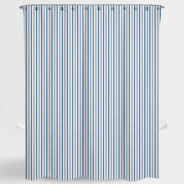 A1 Home Collections 72 in. x 72 in. Stripe Blue Two