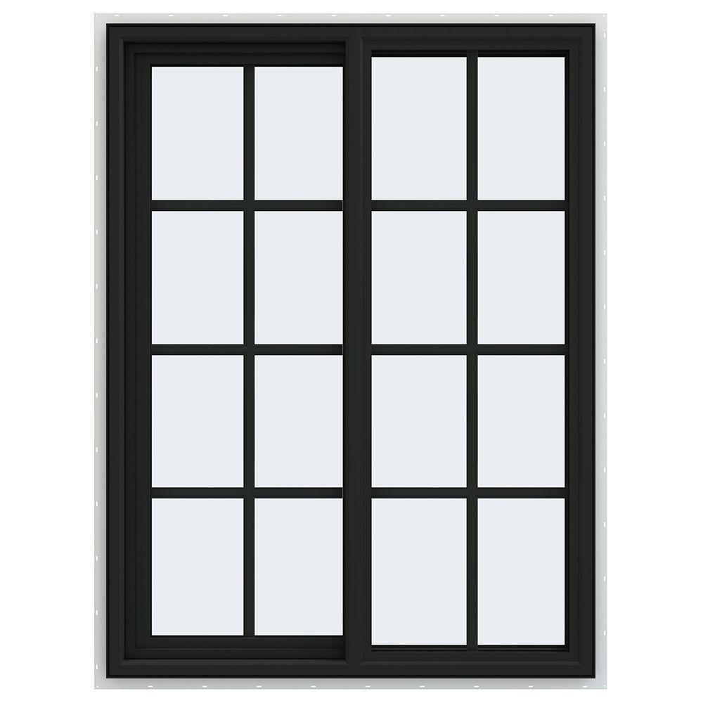 35.5 in. x 47.5 in. V-4500 Series Left-Hand Sliding Vinyl Window