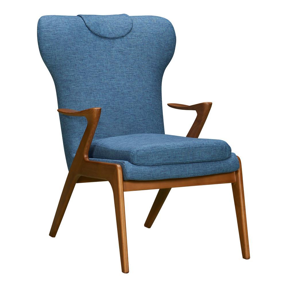 Armen Living Ryder Blue Fabric Accent Chair LCRDCHBLUE