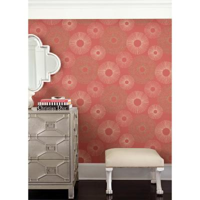 Eternity Coral Geometric Wallpaper